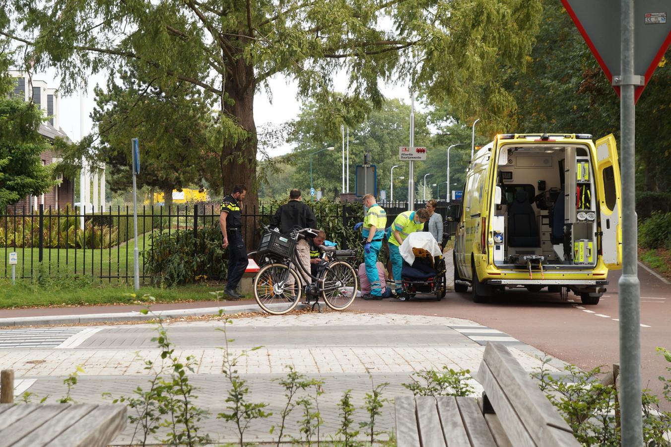 Botsing tussen twee fietsers in Kaatsheuvel.