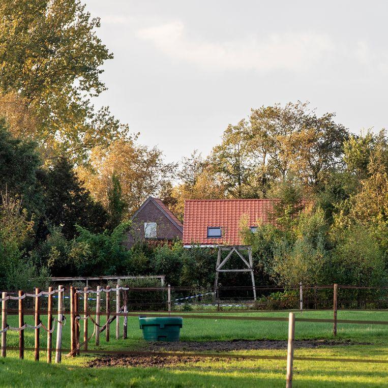 De boerderij waar een vader en zes kinderen een teruggetrokken bestaan leefden.  Beeld BSR Agency