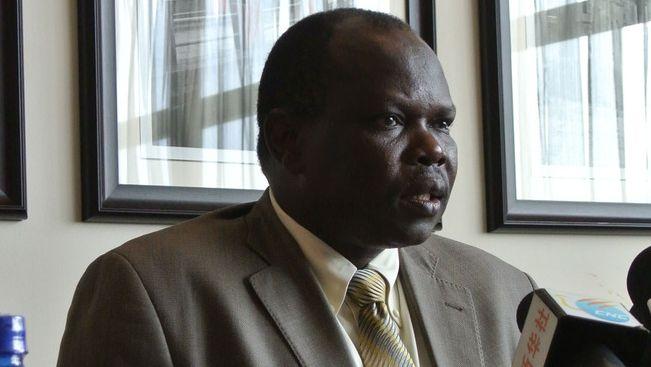 Pagan Amum, hoofdonderhandelaar van Zuid-Soedan.