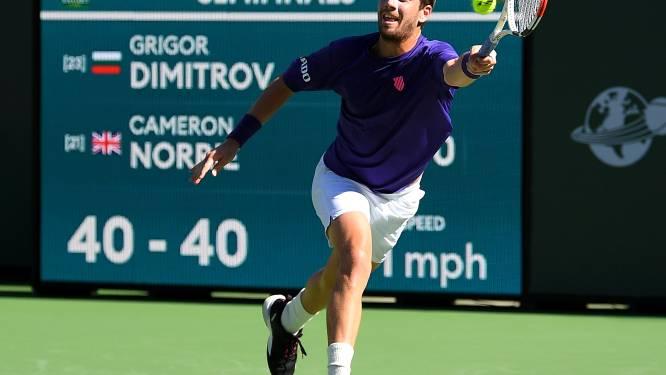 Verrassende finalisten in Indian Wells, Grigor Dimitrov  naar huis