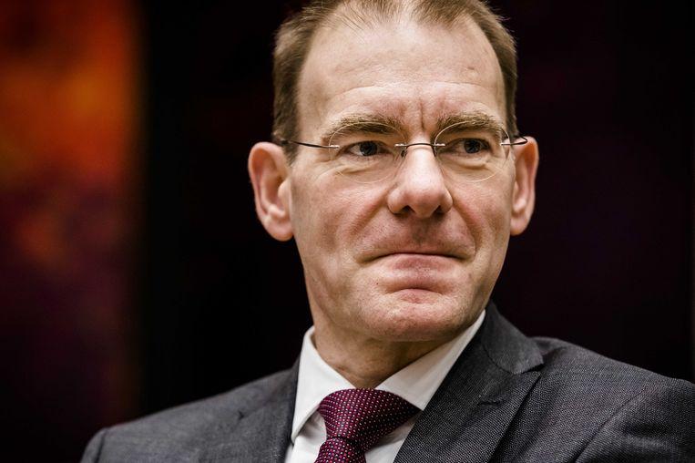 Staatssecretaris Menno Snel van financiën trad in 2019 af tijdens een debat in de Tweede Kamer over de door ouders ontvangen dossiers inzake de kinderopvangtoeslagaffaire.  Beeld ANP