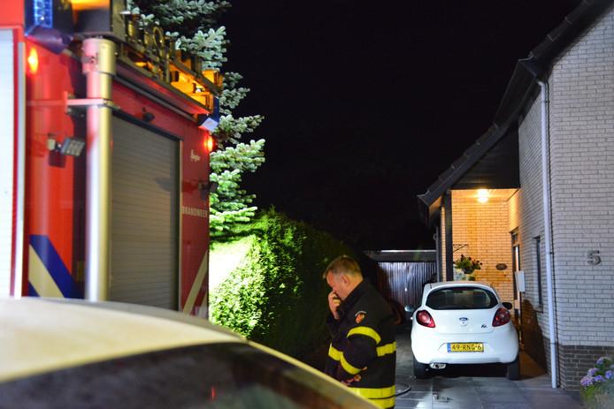 Een brandje aan de Hazelaarstraat in Dorst was snel onder controle.