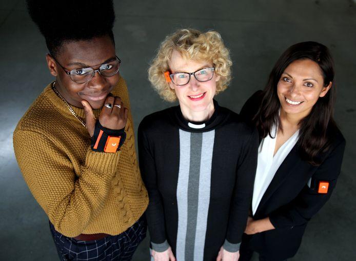 De drie deelnemers aan The Honest Experiment. Tijdens de BBC documentaire A Week Without Lying - The Honesty Experiment gaan drie mensen de uitdaging aan om een week niet te liegen.