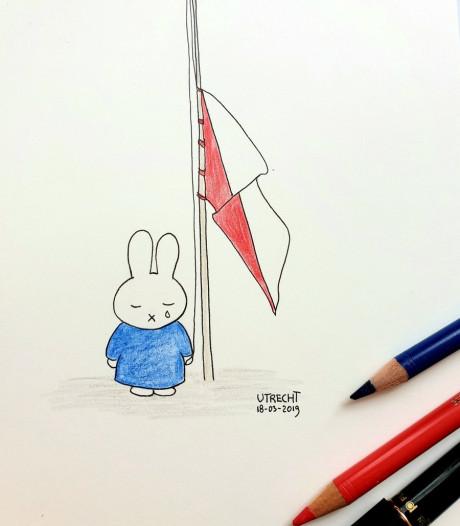 Vlaggen halfstok op overheidsgebouwen