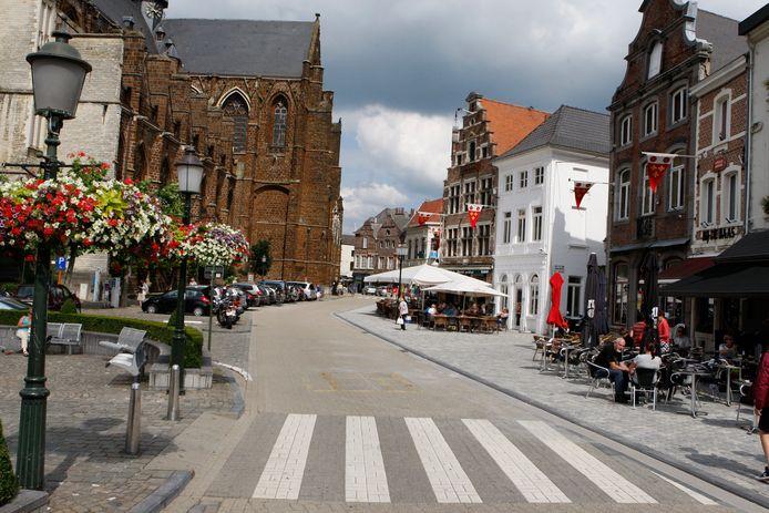 De Grote Markt in Diest.