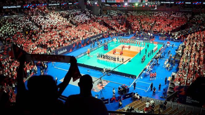 Volleyballers na nipte zege op Portugal naar kwartfinales EK