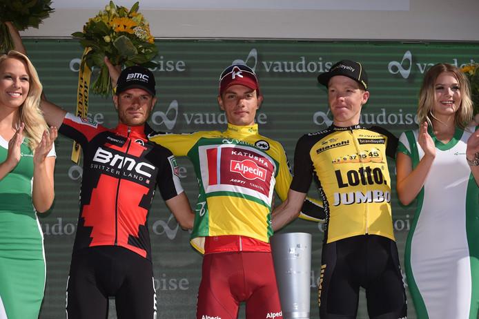 Kruijswijk (rechts) eindigde als derde in het eindklassement.
