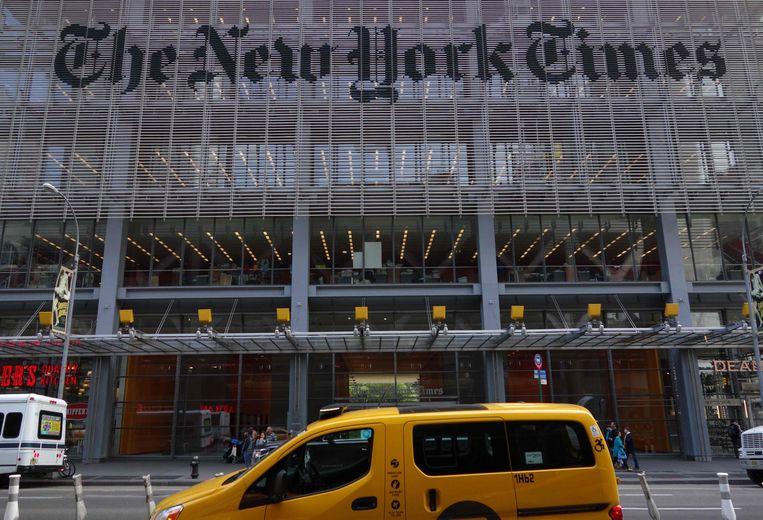 Het hoofdkantoor van The New York Times. Beeld AFP