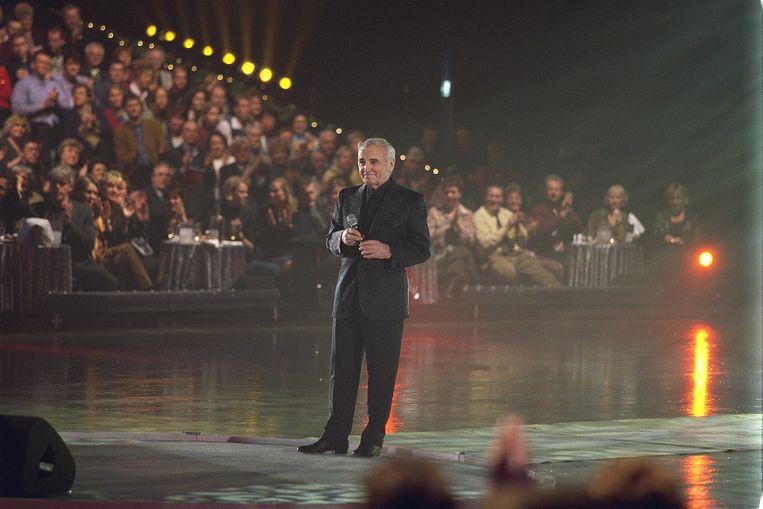 De chansonzanger tijdens de staatsloterijshow in 2011. Beeld anp