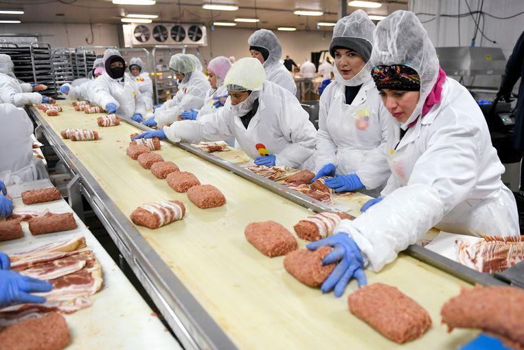Een vleesfabriek in Denver (Colorado, VS). Beeld DP