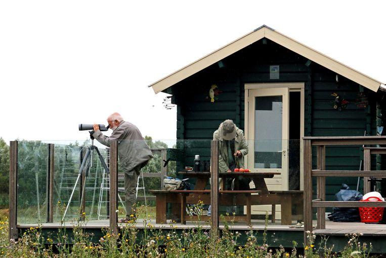 Een huisje op de natuurcamping De Knotwilg in Werkendam. Beeld Edwin Winkels