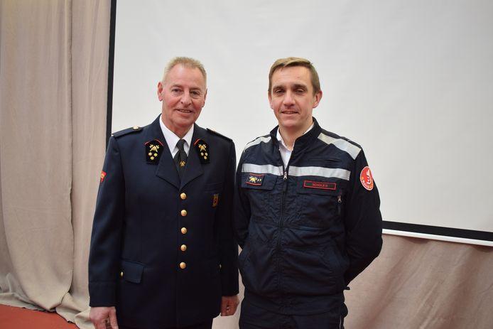 Luc Van Hoof (links) met zijn opvolger Dave Schols.