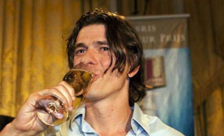 De Vlaamse schrijver Dimitri Verhulst heeft maandag de Libris Literatuurprijs 2009 gewonnen. Foto ANP Beeld