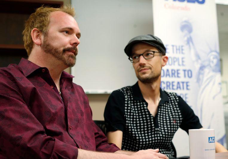 Charlie Craig (links) en David Mullins. Beeld AP