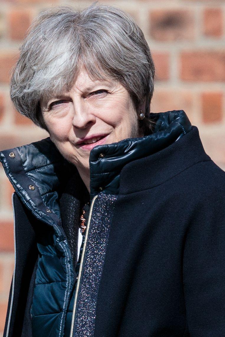 De Britse premier Theresa May. Beeld Getty Images