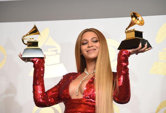Beyoncé in 2017 op de Grammy Awards
