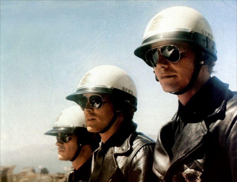 Robert Urich, Kip Niven en David Soul in Magnum Force van Ted Post Beeld