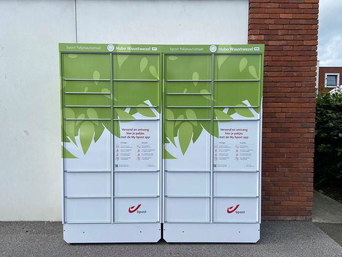 De gloednieuwe pakjesautomaat van bpost aan Hubo heeft 26 lockers