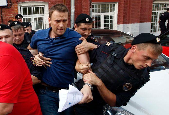 10 juli 2013: Aleksej Navalny stelde zich zeven jaar geleden verkiesbaar voor het ambt van burgemeester van Moskou. Na het indienen van de documenten werd hij (andermaal) opgepakt.