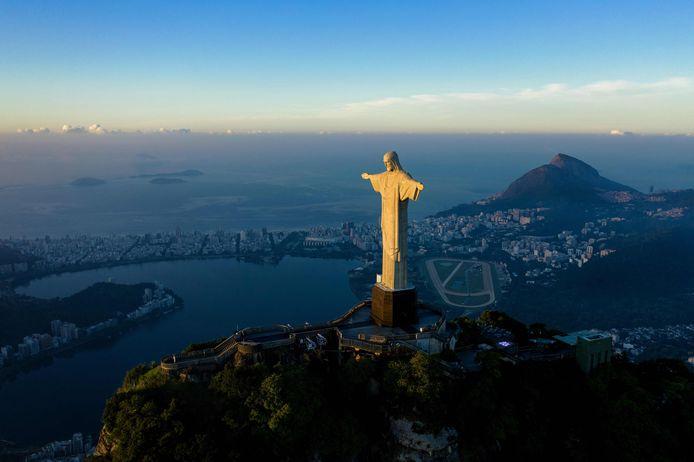 Het standbeeld van Christus de Verlosser in Rio de Janeiro.