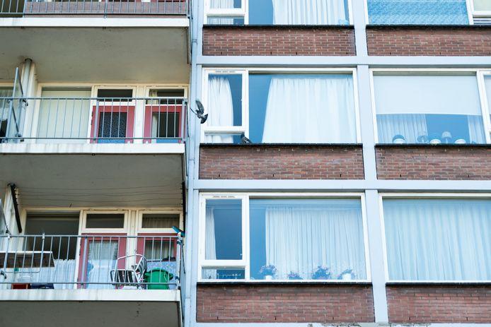 Foto ter illustratie. Huizen in Den Haag Zuidwest.