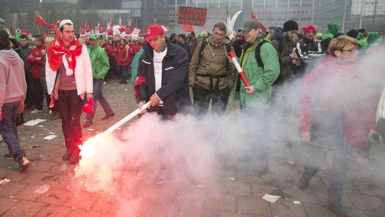 Bij de nationale betoging op 6 november kwamen meer dan 100.000 mensen op straat. Beeld PHOTO_NEWS