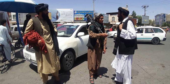 Taliban-strijders in Herat.