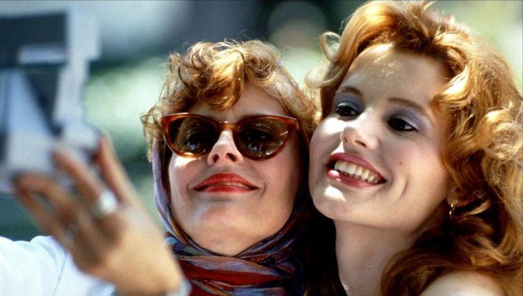 Susan Sarandon en Geena Davis in Thelma & Louise. Beeld
