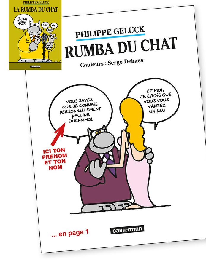 """L'offre personnalisée de """"La rumba du Chat"""" est limitée à 5.000 exemplaires"""