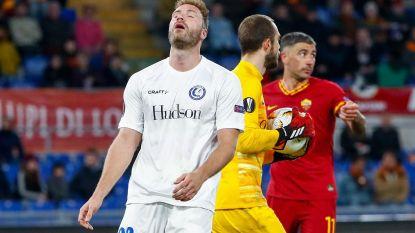 AA Gent laat belangrijk uitdoelpunt liggen en verliest tegen AS Roma, kans op kwalificatie blijft wel overeind