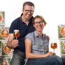 Pieter Van den Weghe en Lies Bouvry, met hun glutenvrije Tripel I Like.