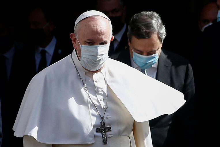 Paus Franciscus in Rome. Beeld AP