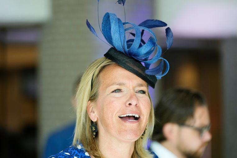 VVD-Kamerlid Ockje Tellegen kiest voor een mooie blauwe creatie. Beeld Hollandse Hoogte /  ANP