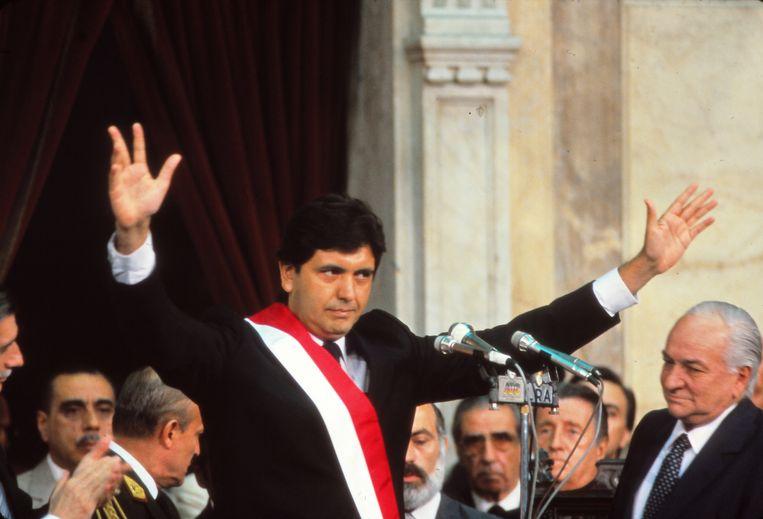 Alan García in 1986, tijdens zijn eerste periode als president Beeld Getty Images