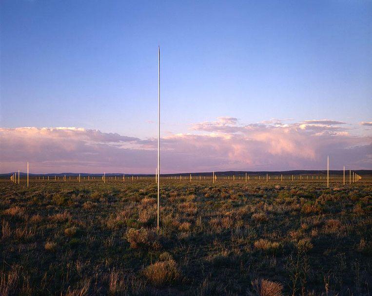 The Lightning Field, Walter Maria. Beeld