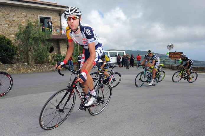 Dirk Bellemakers tijdens de derde etappe in de Ronde van Italië van 2013.