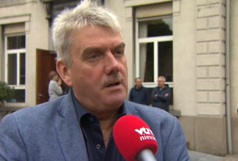 Uittredend burgemeester Frank Bruggeman.