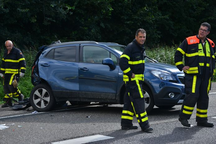 Ongeluk A58 bij Etten-Leur.