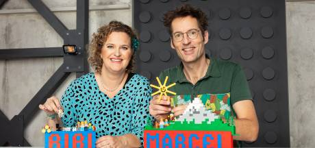 LEGO Masters Bibi en Marcel uit Dongen zijn geen nerds maar hebben een gekke kronkel: 'We tekenen met stenen'