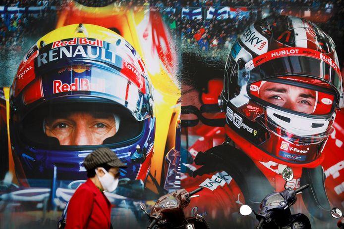 Formule 1-uitingen in de straten van Vietnam.