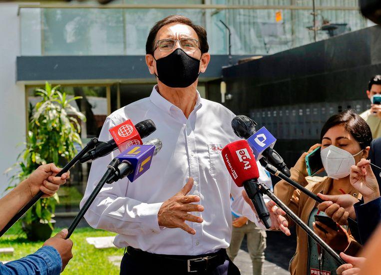 De voorgaande president Martin Vizcarra Beeld AFP