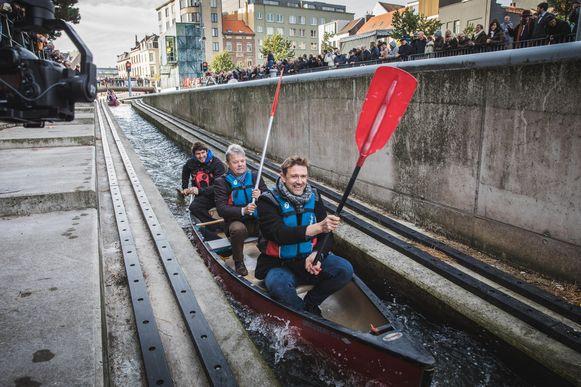 De waterglijbaan voor kajaks en kano's kan wel gewoon gebruikt worden