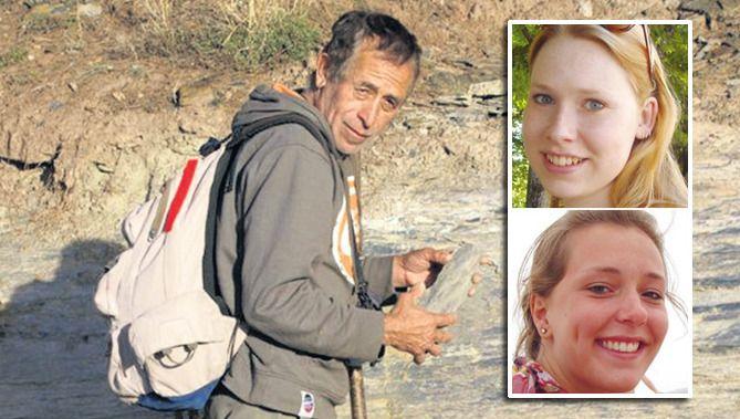 Gids Feliciano Gonzalez, die Kris en Lisanne zou meenemen naar de vulkaan bij Boquete. Inzetje: Kris Kremers (boven) en Lisanne Froon.
