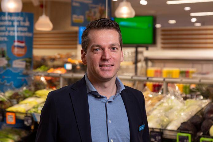 Supermarktmanager Roy Wijnhoven van Albert Heijn XL in Winkelcentrum Woensel in Eindhoven.