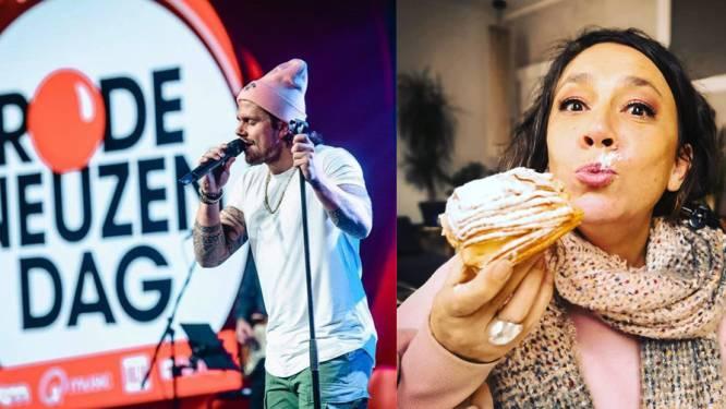 SHOWBITS. André Hazes op Rode Neuzen Dag en Slongs eet koffiekoeken