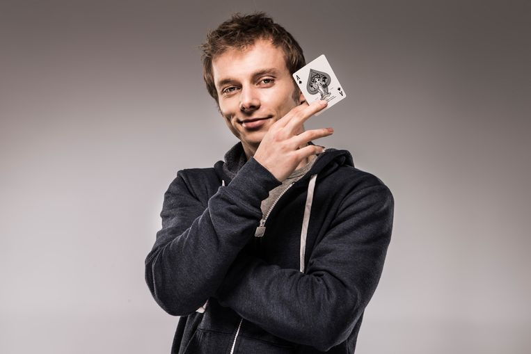 Goochelaar Nicholas Arnst.  Beeld VTM