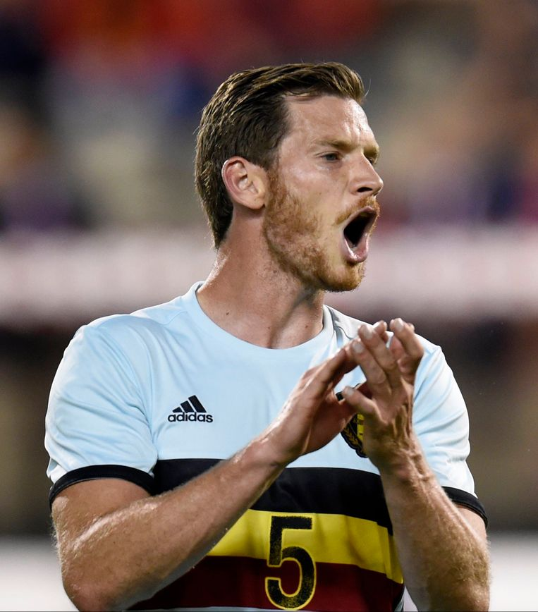 BRUSSELS, BELGIUM - SEPTEMBER 01 :  Jan Vertonghen defender of Belgium  during a FIFA international friendly match between Belgium and Spain at the King Baudouin Stadium on September 01, 2016 in Brussels, Belgium , 1/09/2016 ( Photo by Philippe Crochet / Photonews Beeld null