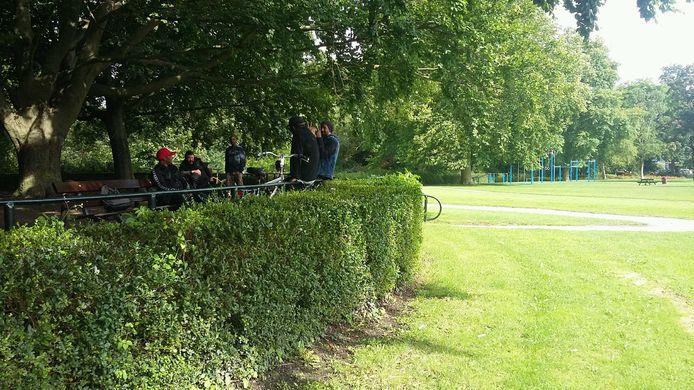 Hier in het Weizigtpark had zondag de demonstratie tegen de coronaspoedwet plaats moeten vinden.