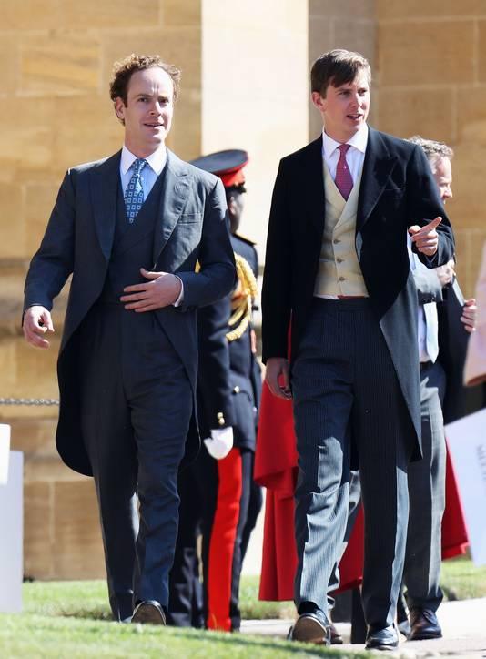 Tom Inskip (à gauche) au mariage du prince Harry et de Meghan Markle le 19 mai 2018.