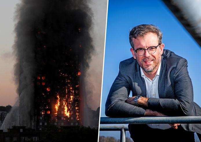 Paul de Koning fuseert zijn Dordtse bedrijf om wereldwijd inferno's, zoals de inmiddels iconische brandende Grenfell Tower in Londen, te voorkomen.
